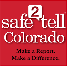 safe2tell Colorado icon: Make a Report. Make a Difference.
